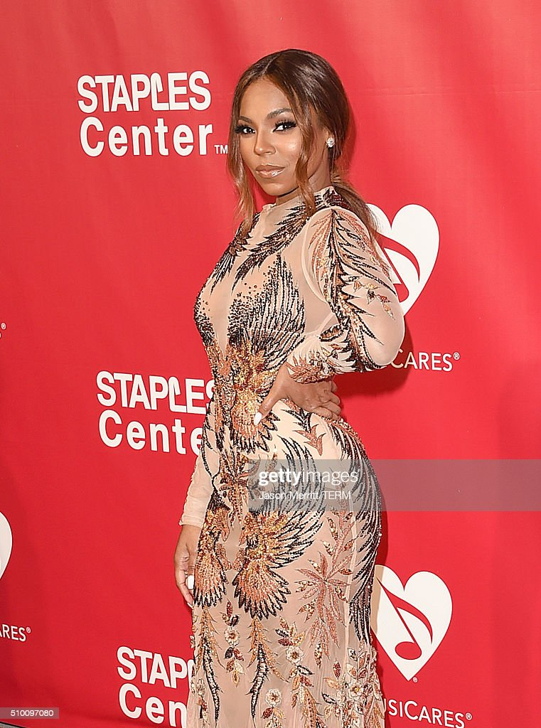 Singer Ashanti attends the 2016 MusiCares Person of the Year honoring Lionel Richie at the Los Angeles Convention Center on February 13 2016 in Los...