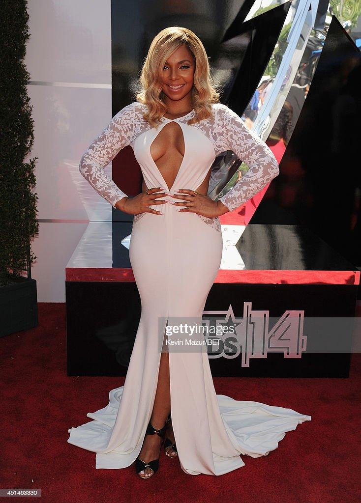 Singer Ashanti attends the BET AWARDS '14 at Nokia Theatre LA LIVE on June 29 2014 in Los Angeles California