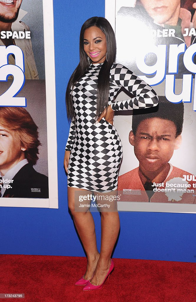 Singer Ashanti attends the 'Grown Ups 2' New York Premiere at AMC Lincoln Square Theater on July 10, 2013 in New York City.
