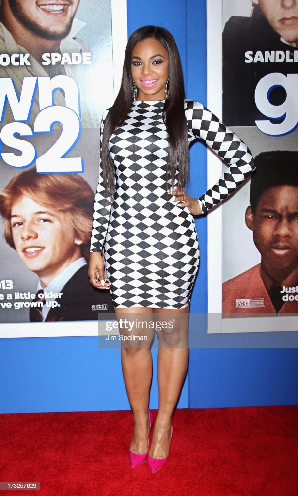 Singer <a gi-track='captionPersonalityLinkClicked' href=/galleries/search?phrase=Ashanti&family=editorial&specificpeople=146300 ng-click='$event.stopPropagation()'>Ashanti</a> attends the 'Grown Ups 2' New York Premiere at AMC Lincoln Square Theater on July 10, 2013 in New York City.