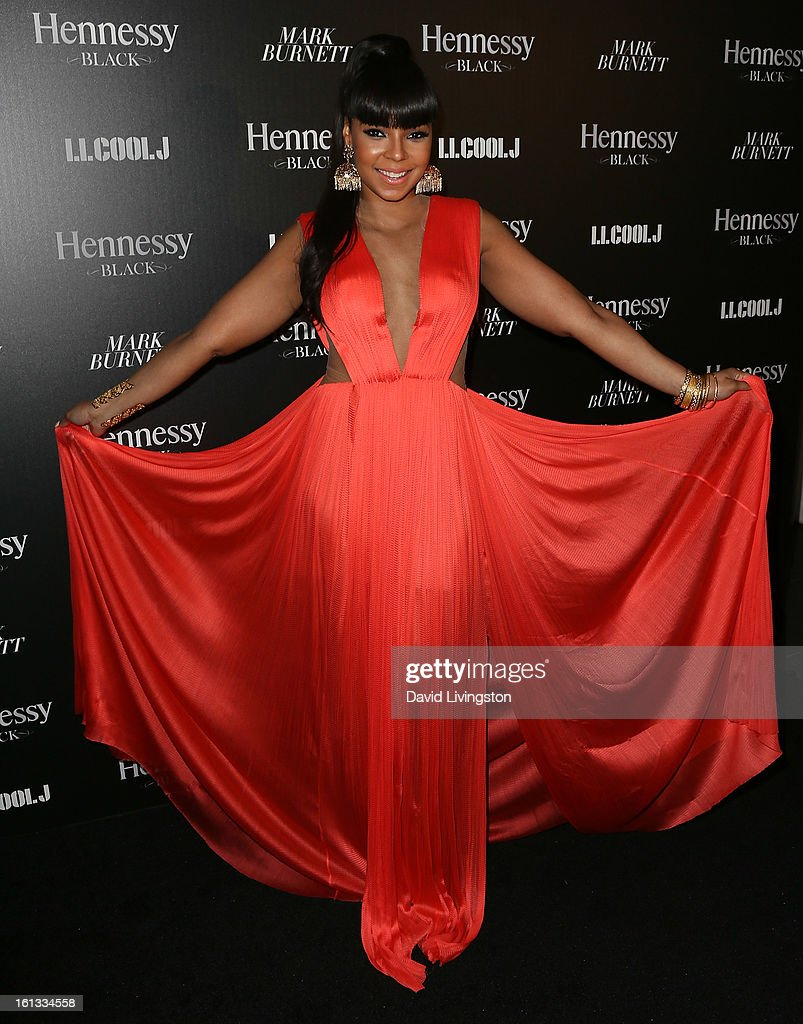 Singer Ashanti attends the Hennessy Toasts Achievements In Music event with GRAMMY Host LL Cool J and Mark Burnett at The Bazaar at the SLS Hotel Beverly Hills on February 9, 2013 in Los Angeles, California.