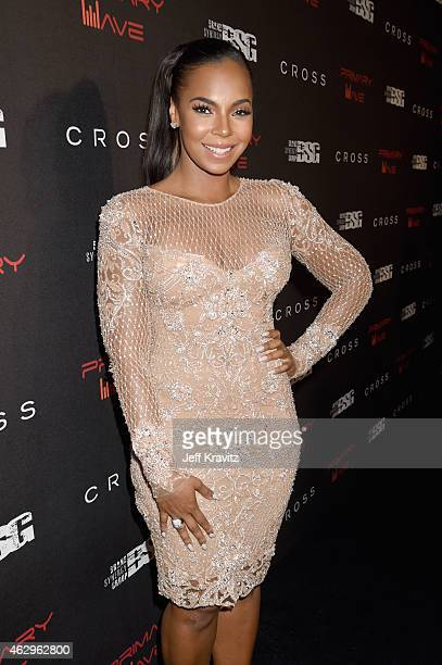 Singer Ashanti attends the Primary Wave 9th Annual PreGrammy Party at RivaBella on February 7 2015 in West Hollywood California
