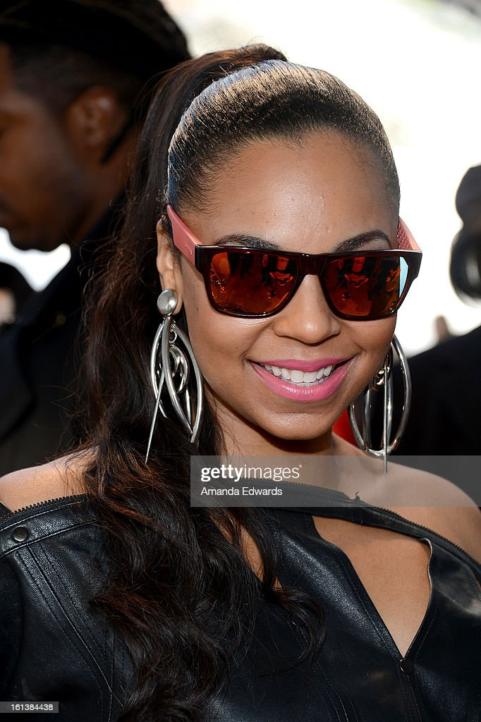 Singer <a gi-track='captionPersonalityLinkClicked' href=/galleries/search?phrase=Ashanti&family=editorial&specificpeople=146300 ng-click='$event.stopPropagation()'>Ashanti</a> in Carrera 5002S poses with SOLSTICE Sunglasses and Safilo USA during the 55th Annual GRAMMY Awards at the STAPLES Center on February 9, 2013 in Los Angeles, California.