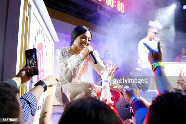 Singer Ashanti performs onstage at The Barstool Party 2017 on February 3 2017 in Houston Texas