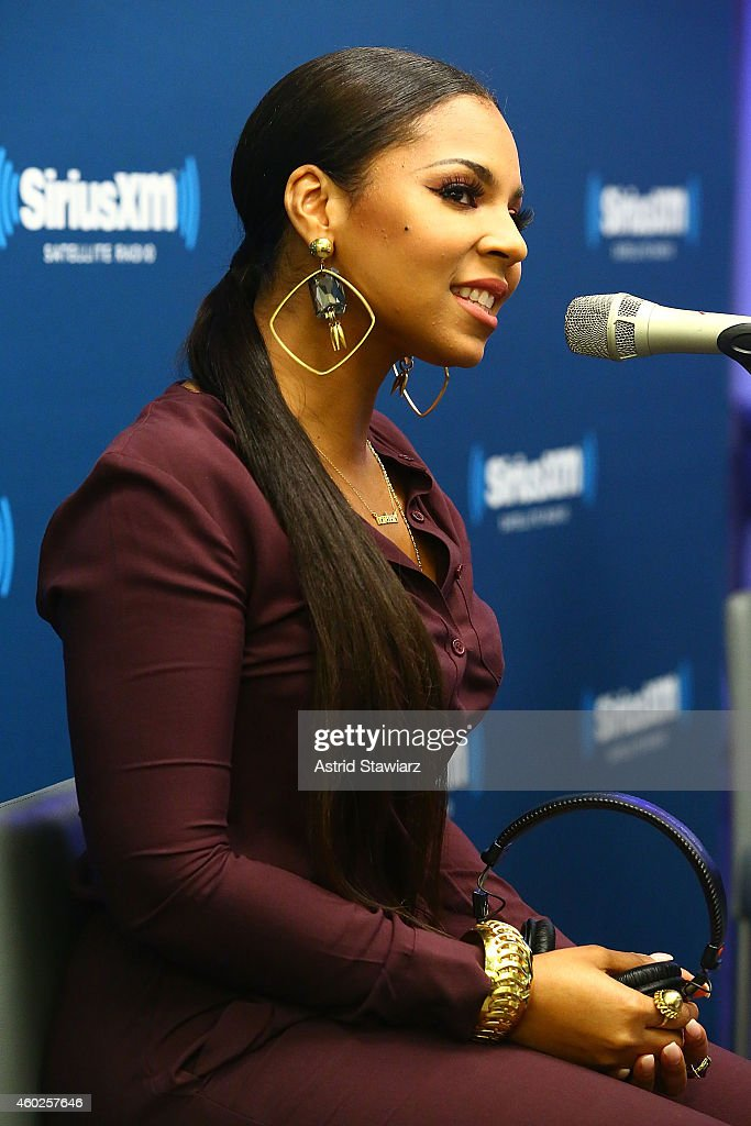 Singer Ashanti visits the SiriusXM Studios on December 10, 2014 in New York City.