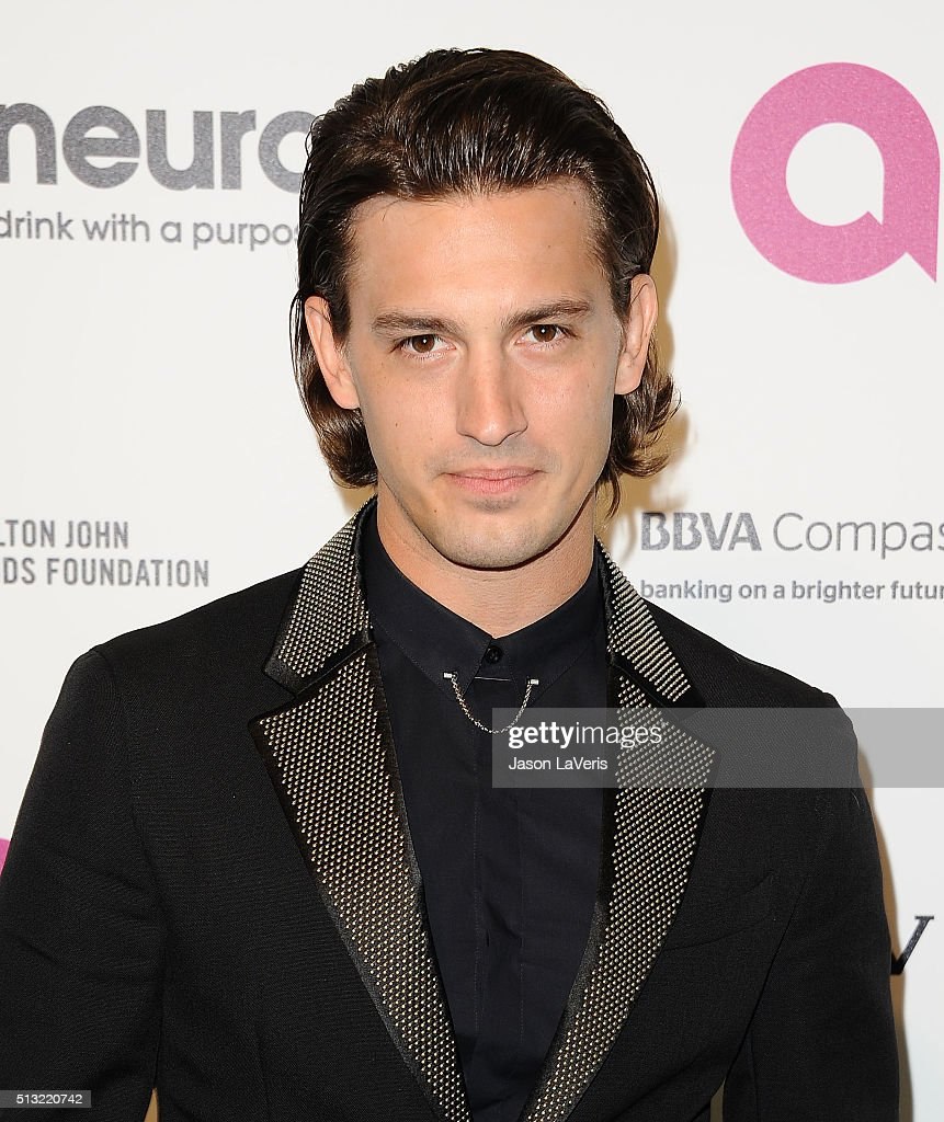Singer Asher Monroe attends the 24th annual Elton John AIDS Foundation's Oscar viewing party on February 28 2016 in West Hollywood California