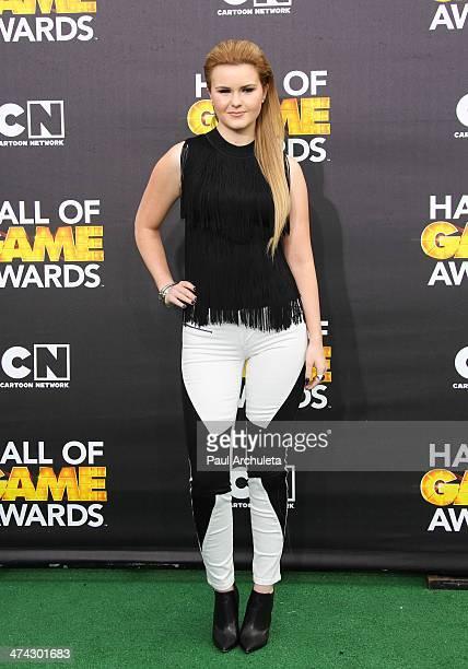 Singer Ashlee Keating attends the Cartoon Network's Hall Of Game Awards at Barker Hangar on February 15 2014 in Santa Monica California