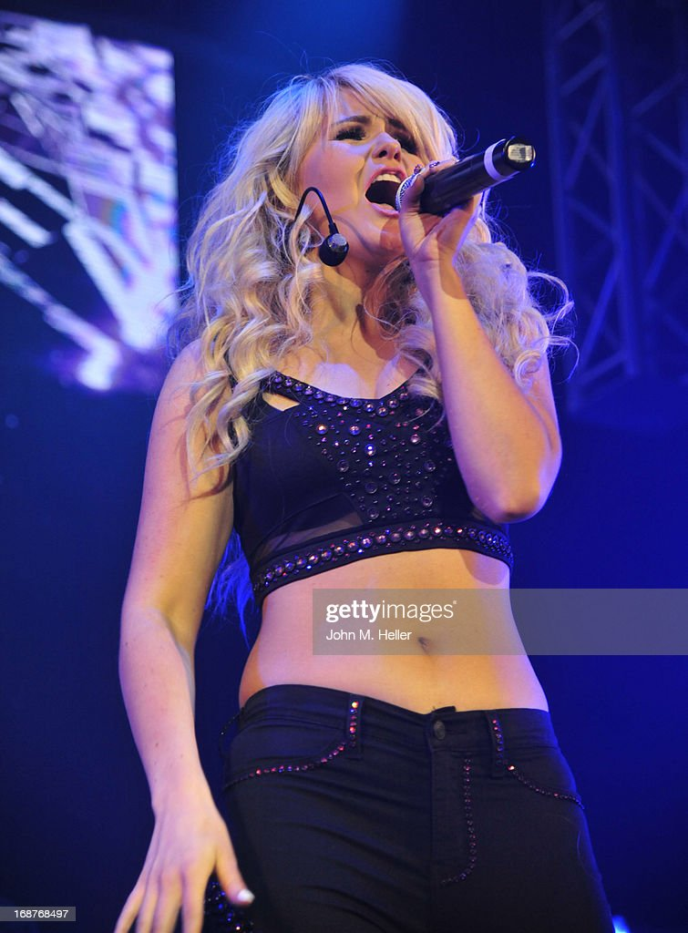 Singer Ashlee Keating performs her new single at the debut release of her new single and the release of her new video at the Avalon on May 14, 2013 in Hollywood, California.