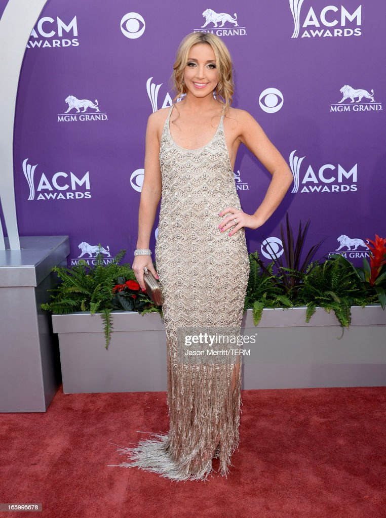 Singer Ashley Monroe arrives at the 48th Annual Academy of Country Music Awards at the MGM Grand Garden Arena on April 7, 2013 in Las Vegas, Nevada.