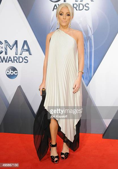 Singer Ashley Monroe attends the 49th annual CMA Awards at the Bridgestone Arena on November 4 2015 in Nashville Tennessee