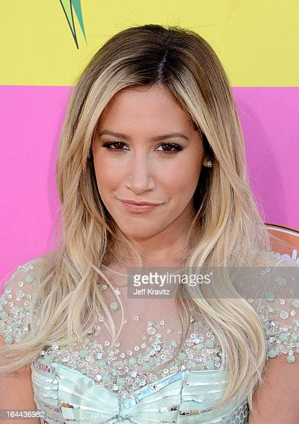 Singer Ashley Tisdale arrives at Nickelodeon's 26th Annual Kids' Choice Awards at USC Galen Center on March 23 2013 in Los Angeles California