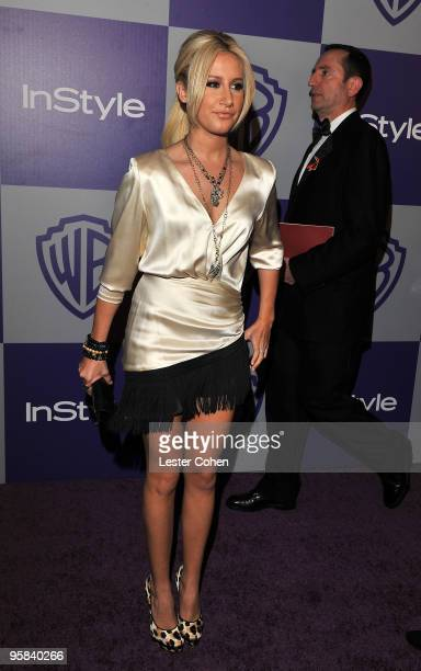 Singer Ashley Tisdale attends the InStyle and Warner Bros 67th Annual Golden Globes post party held at the Oasis Courtyard at The Beverly Hilton...