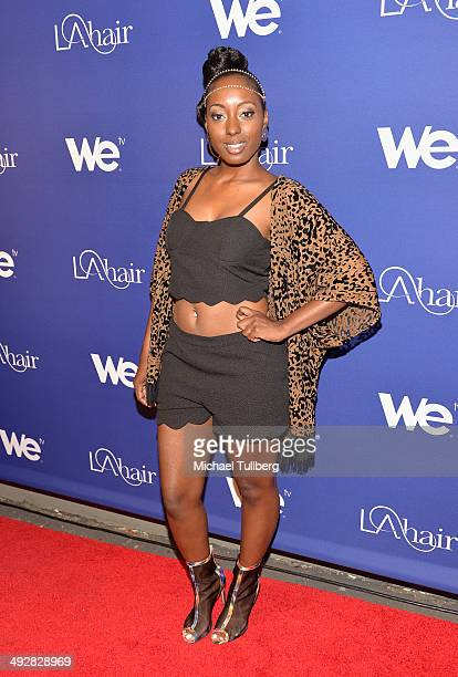 Singer Ashly Williams attends the premiere event for Season 3 of LA tv's 'LA Hair' show at Kimble Hair Studio and Extension Bar on May 21 2014 in Los...