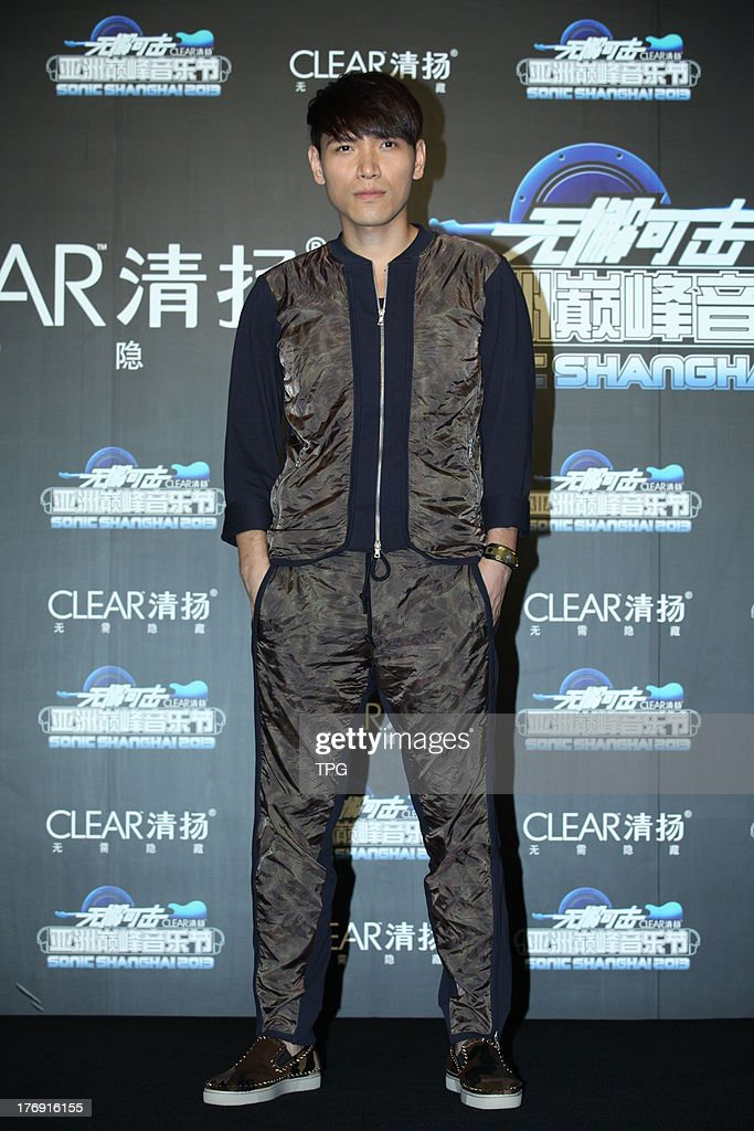 Singer Aska Yang attends press conference of new product held by CLEAR on Saturday August 17,2013 in Shanghai.