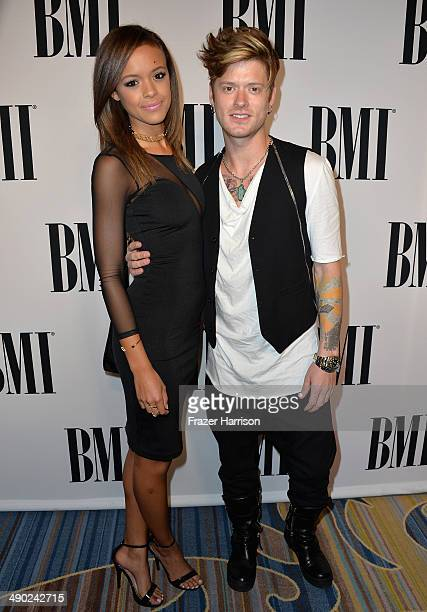 Singer Aubrey Cleland and musician Nash Overstreet attend the 62nd annual BMI Pop Awards at the Regent Beverly Wilshire Hotel on May 13 2014 in...