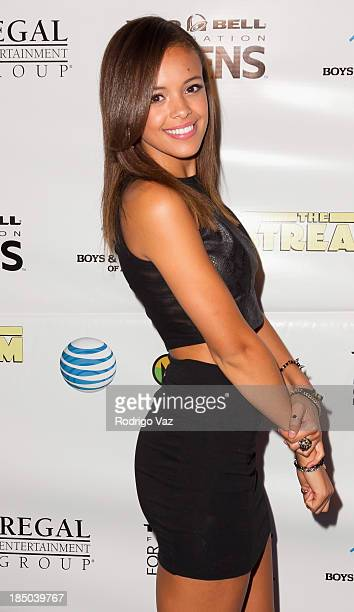 Singer Aubrey Cleland attends 'The Stream' Premiere benefiting Boys Girls Clubs of America at Regal 14 at LA Live Downtown on October 16 2013 in Los...