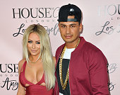 Singer Aubrey O'Day and DJ Pauly D attend the House of CB Flagship Store Launch party at the House of CB on June 14 2016 in West Hollywood California