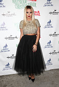 Singer Aubrey O'Day attends the 83rd Annual Hollywood Christmas Parade with musical performances by Grand Marshal Stevie Wonder and legendary...