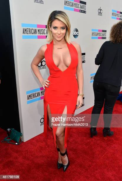 Singer Aubrey O'Day of Danity Kane attends 2013 American Music Awards at Nokia Theatre LA Live on November 24 2013 in Los Angeles California