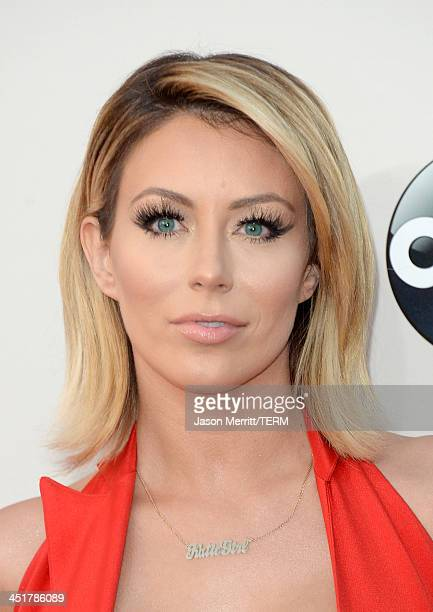 Singer Aubrey O'Day of Danity Kane attends the 2013 American Music Awards at Nokia Theatre LA Live on November 24 2013 in Los Angeles California
