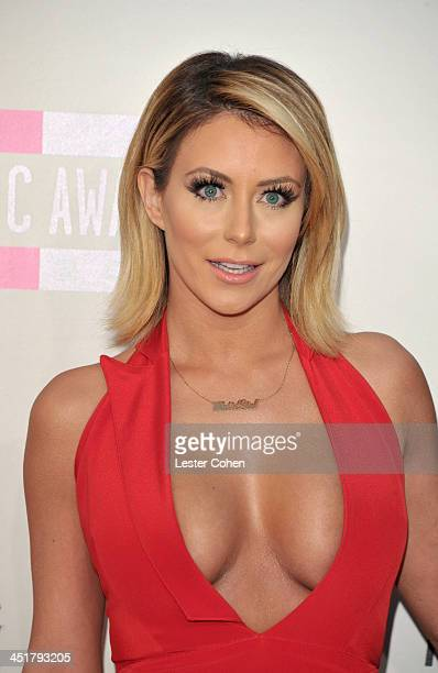 Singer Aubrey O'Day of music group Danity Kane attends the 2013 American Music Awards at Nokia Theatre LA Live on November 24 2013 in Los Angeles...