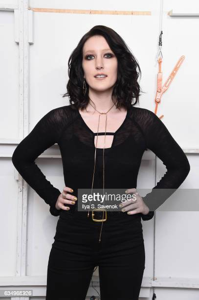 Singer Aubrie Sellers attends the Vivienne Hu collection during New York Fashion Week The Shows at Gallery 2 Skylight Clarkson Sq on February 12 2017...
