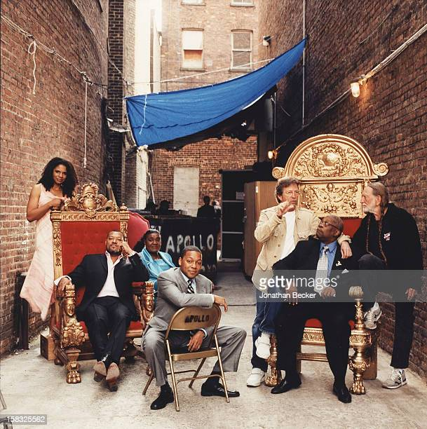 Singer Audra McDonald actor Laurence Fishburne singer Carrie Smith musicians Wynton Marsalis Eric Clapton B B King and Willie Nelson are photographed...