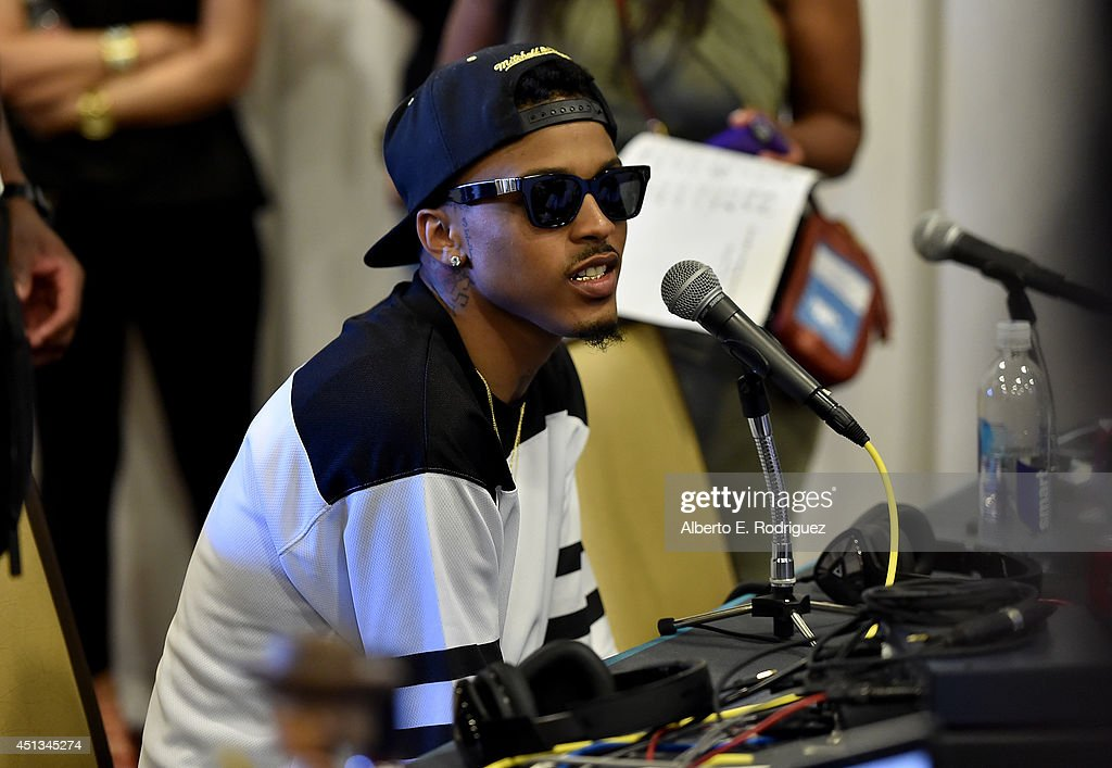 Singer <a gi-track='captionPersonalityLinkClicked' href=/galleries/search?phrase=August+Alsina&family=editorial&specificpeople=10755263 ng-click='$event.stopPropagation()'>August Alsina</a> attends day 1 of the Radio Broadcast Center during the BET Awards '14 on June 27, 2014 in Los Angeles, California.