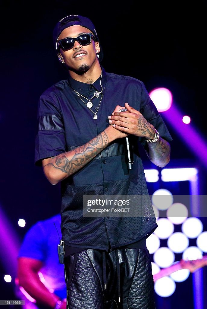 Singer <a gi-track='captionPersonalityLinkClicked' href=/galleries/search?phrase=August+Alsina&family=editorial&specificpeople=10755263 ng-click='$event.stopPropagation()'>August Alsina</a> performs onstage at the OutKast, A$AP Rocky, Rick Ross, K. Michelle, <a gi-track='captionPersonalityLinkClicked' href=/galleries/search?phrase=August+Alsina&family=editorial&specificpeople=10755263 ng-click='$event.stopPropagation()'>August Alsina</a> & Ty Dolla $ign Presented By Sprite during the 2014 BET Experience At L.A. LIVE on June 28, 2014 in Los Angeles, California.