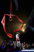 Singer August Alsina performs onstage during the BET AWARDS '14 at Nokia Theatre LA LIVE on June 29 2014 in Los Angeles California