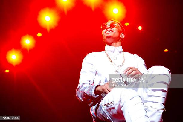 Singer August Alsina performs onstage during Usher's 'The UR Experience' tour at Madison Square Garden on November 7 2014 in New York City