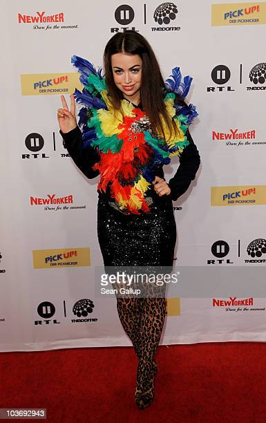 Singer Aura Dione attends The Dome 55 on August 27 2010 in Hannover Germany