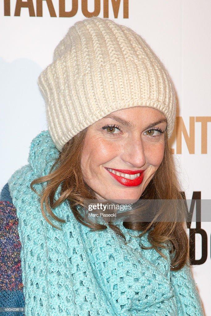 Singer Aurelie Maggiori attends the 'Twenty feet from stardom' Paris premiere at Cinema UGC Normandie on November 18, 2013 in Paris, France.