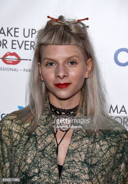 Singer Aurora arrives at the Universal Music Group's 2017 GRAMMY After Party at The Theatre at Ace Hotel on February 12 2017 in Los Angeles California