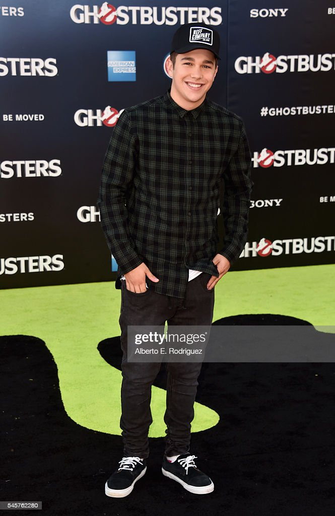 Singer Austin Mahone arrives at the Premiere of Sony Pictures' 'Ghostbusters' at TCL Chinese Theatre on July 9 2016 in Hollywood California