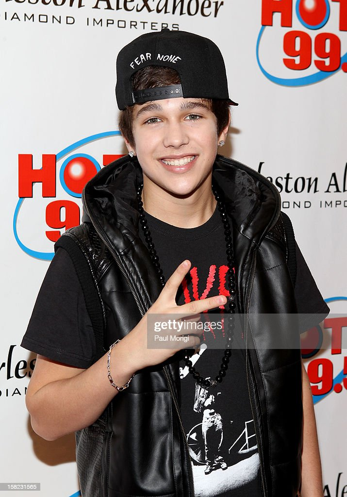 Singer Austin Mahone attends Hot 99.5's Jingle Ball 2012, presented by Charleston Alexander Diamond Importers, at The Patriot Center on December 11, 2012 in Washington, D.C.