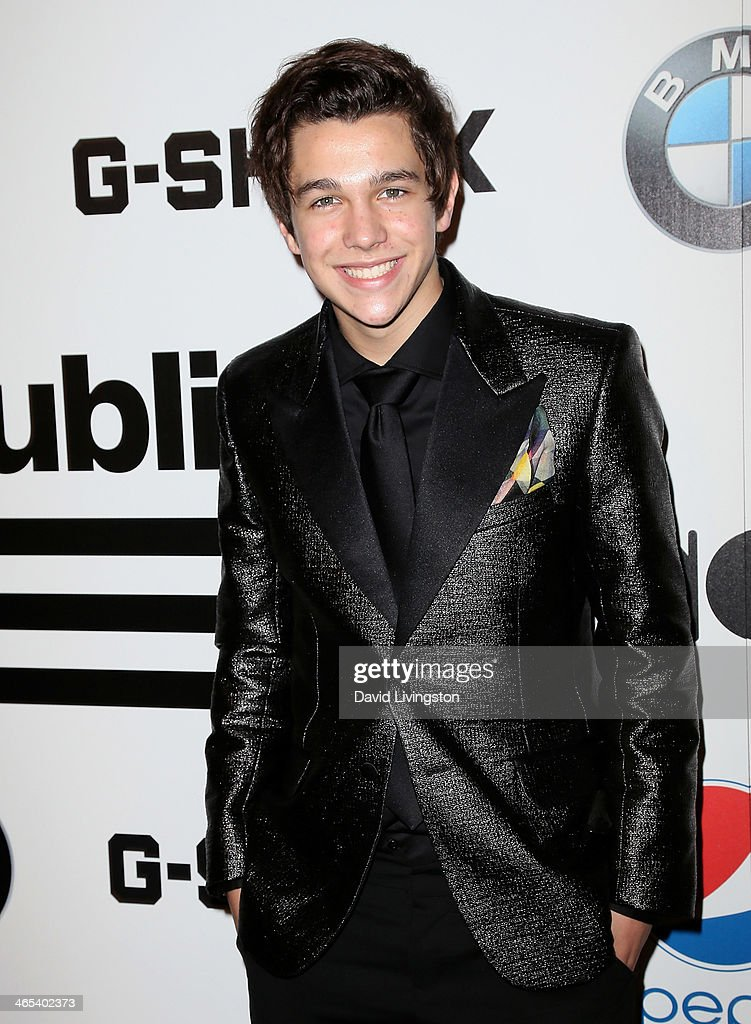 Singer <a gi-track='captionPersonalityLinkClicked' href=/galleries/search?phrase=Austin+Mahone&family=editorial&specificpeople=9429678 ng-click='$event.stopPropagation()'>Austin Mahone</a> attends Republic Records Post Grammy Party at 1 OAK on January 26, 2014 in West Hollywood, California.