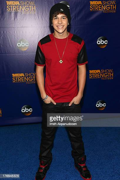 Singer Austin Mahone attends the 2013 MDA Show Of Strength at CBS Studios on July 31 2013 in Los Angeles California