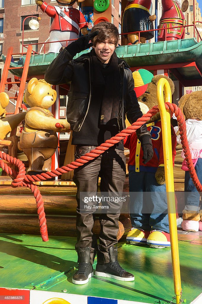 Singer Austin Mahone attends the 87th Annual Macy's Thanksgiving Day Parade on November 28, 2013 in New York City.