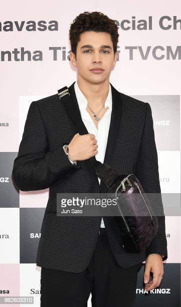 Singer Austin Mahone attends the Samantha Thavasa's Christmas TV Commercial Launch press event on October 18 2017 in Tokyo Japan