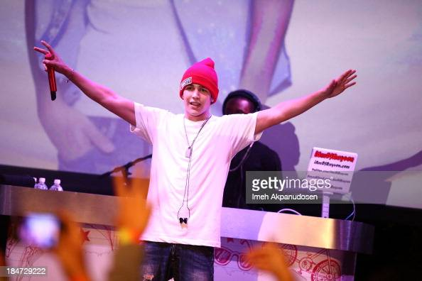 Singer Austin Mahone performs at Aquafina Launch of FlavorSplash at Sony Pictures Studios on October 15 2013 in Culver City California