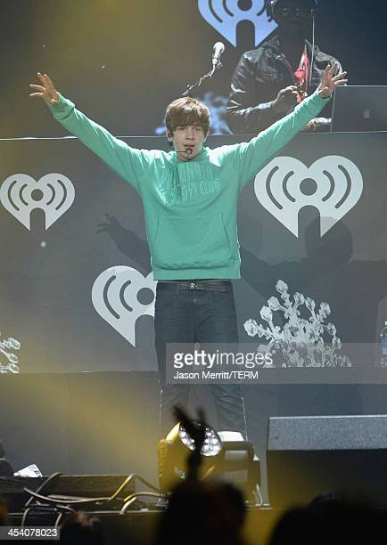 Singer Austin Mahone performs onstage during KIIS FM's Jingle Ball 2013 at Staples Center on December 6 2013 in Los Angeles CA