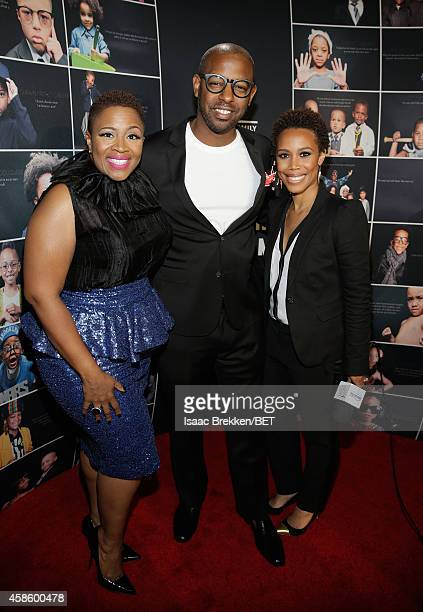 Singer AVERY*Sunshine guest and photographer Eunique Jones attend the 2014 Soul Train Music Awards at the Orleans Arena on November 7 2014 in Las...