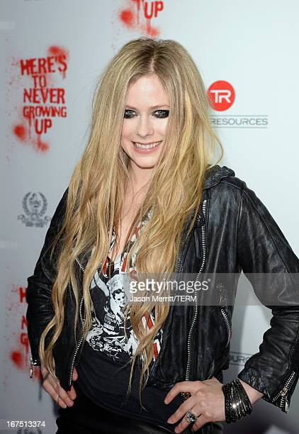 Singer Avril Lavigne arrives for her secret performance at The Viper Room on April 25 2013 in West Hollywood California