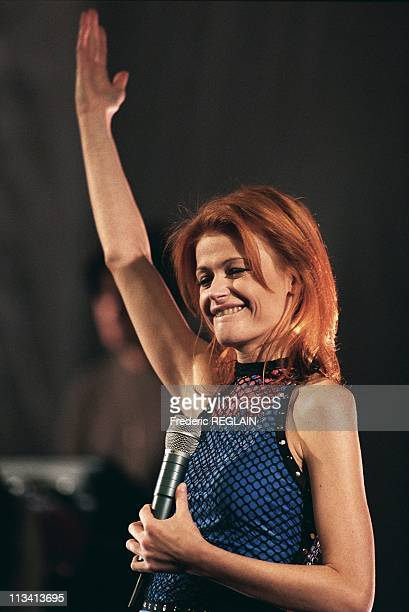 Singer Axelle Red Concert On November 26th 1997 In ParisFrance