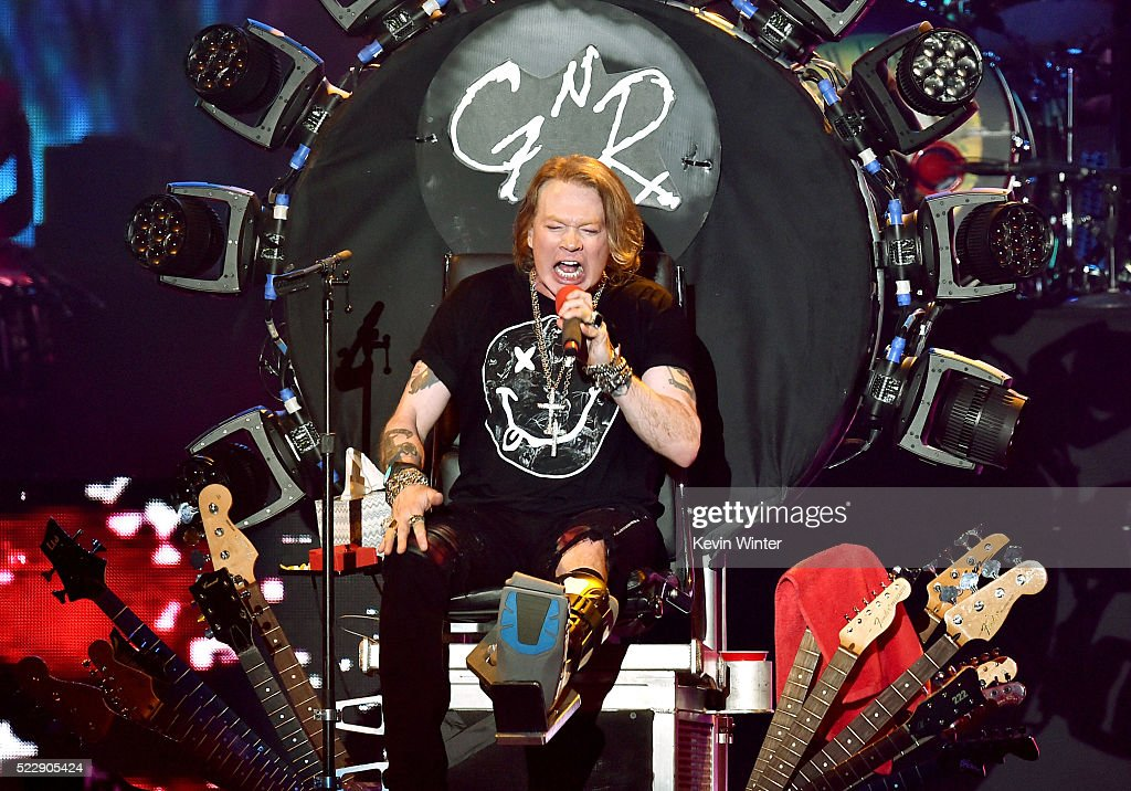 Singer Axl Rose of Guns N' Roses performs onstage during day 2 of the 2016 Coachella Valley Music & Arts Festival Weekend 1 at the Empire Polo Club on April 16, 2016 in Indio, California.