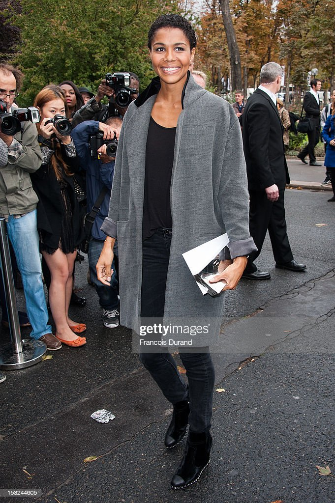 Singer Ayo arrives at the Chanel Spring / Summer 2013 show as part of Paris Fashion Week at Grand Palais on October 2, 2012 in Paris, France.