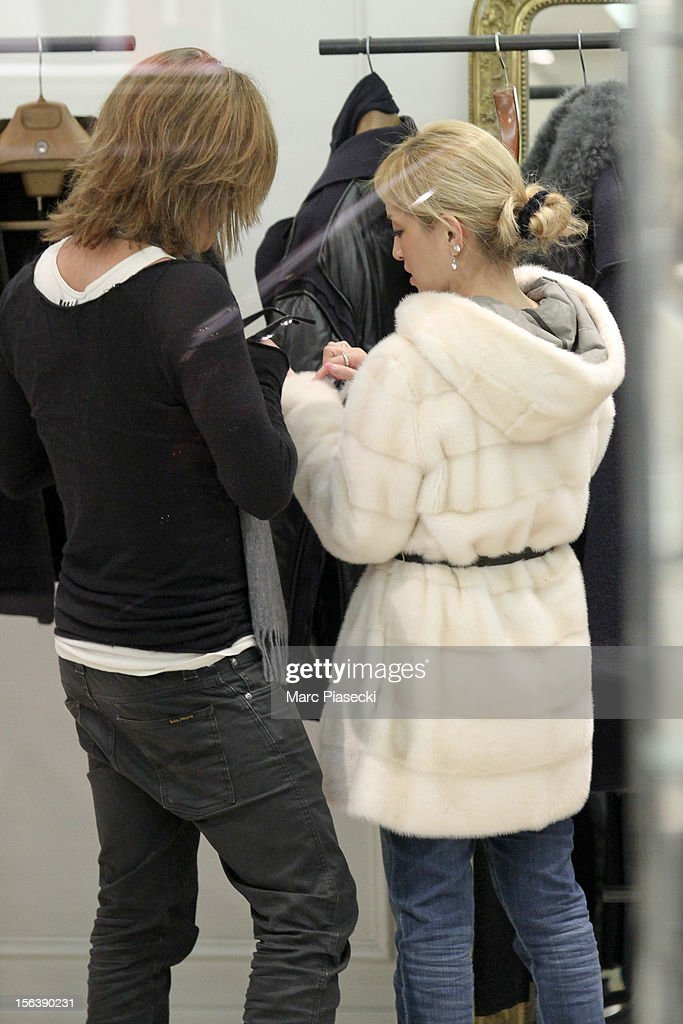 Singer <a gi-track='captionPersonalityLinkClicked' href=/galleries/search?phrase=Ayumi+Hamasaki&family=editorial&specificpeople=2371548 ng-click='$event.stopPropagation()'>Ayumi Hamasaki</a> and boyfriend Maro are seen at the 'Lanvin' store in 'Rue du Faubourg Saint Honore' on November 14, 2012 in Paris, France.