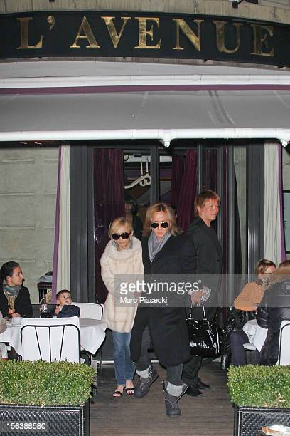 Singer Ayumi Hamasaki and boyfriend Maro are seen leaving the 'L'Avenue' restaurant on November 14 2012 in Paris France