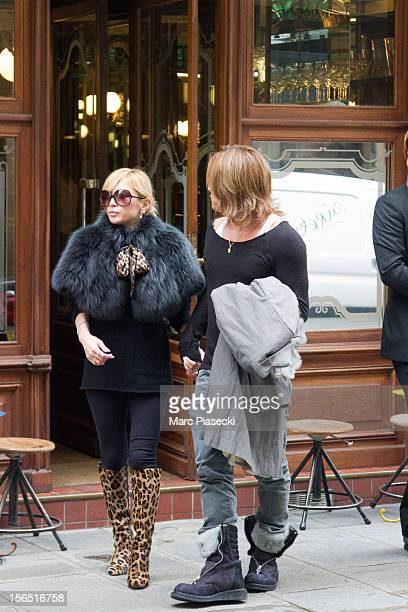 Singer Ayumi Hamasaki and boyfriend Maro are seen leaving the 'Kunitoraya Villedo' japanese restaurant on November 16 2012 in Paris France